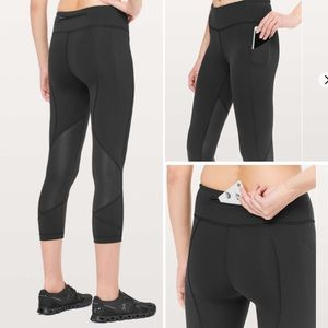 Lululemon Black Pace Rival Crop *Full-On Luxtreme